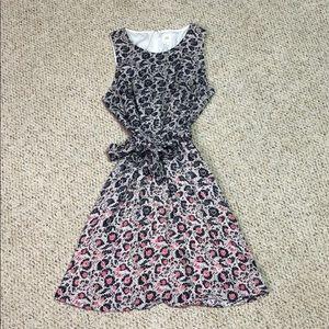 Floral Navy & Pink Sleeveless Gap Dress